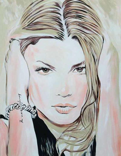 Ritratto a olio dim. 80x100 cm. di Emma Marrone