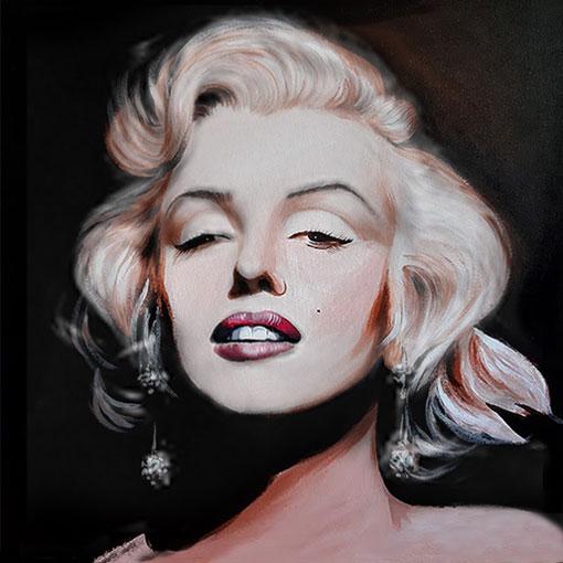 Ritratto dipinto a olio dimensioni 50x50 cm. di Marilyn Monroe