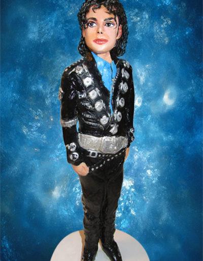 Statuina di terracotta di Michael Jackson. Fatto a mano in stile statuine di Napoli