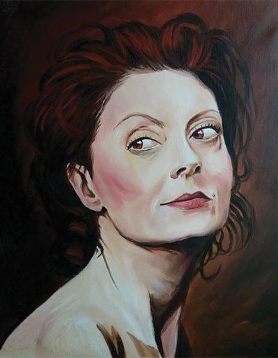 Ritratto dipinto a olio dimensioni 40x50 cm. di Susan Sarandon