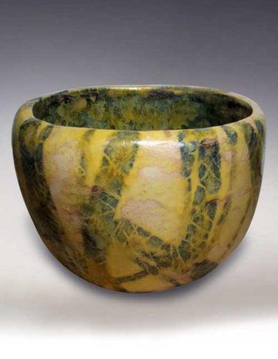 Ciotola di ceramica informale astratto color verde