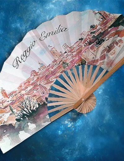Ventaglio souvenir con vista di Reggio Emilia
