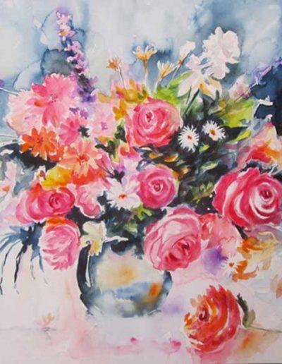Quadro rappresentante fiori acquerello