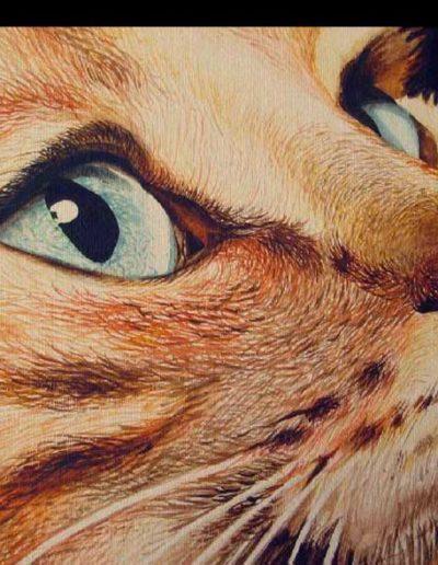 Quadro di gatto dipinto ad acquerello