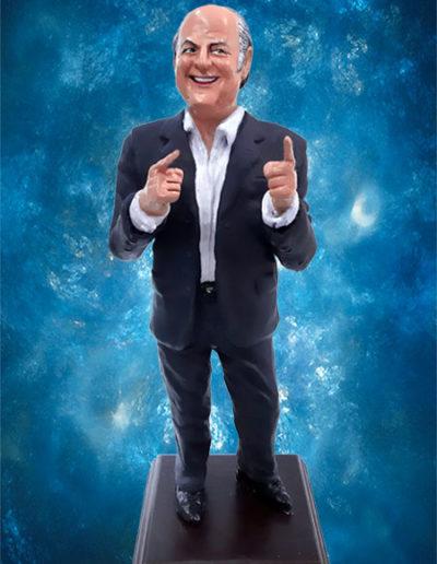 Statuina del presentatore televisivo Jerry Scotti, handmade