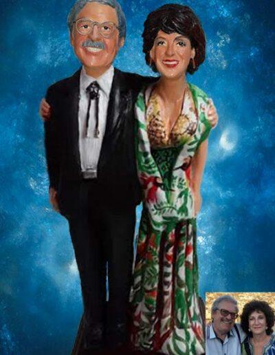 Statuetta in terracotta di una coppia che compie i 40 anni insieme
