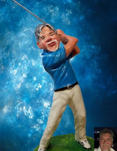 Statuina di giocatore di golf