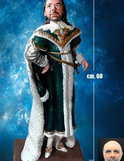 Statuina in terracotta alta 60 cm. in costume di Carlo 1 d'Inghilterra