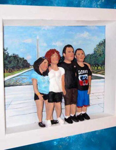 Quadretto Famiglia in gita a Washington