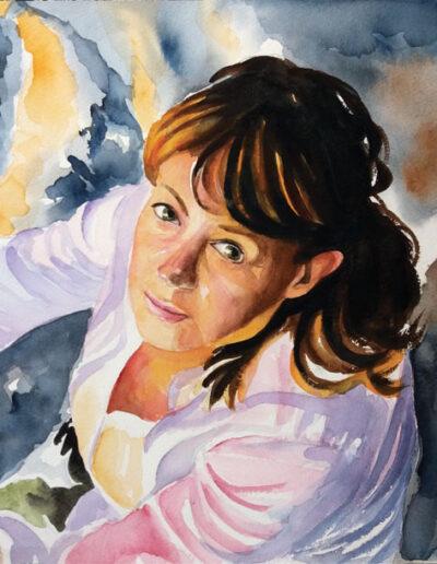 Ritratto ad acquerello di ragazza