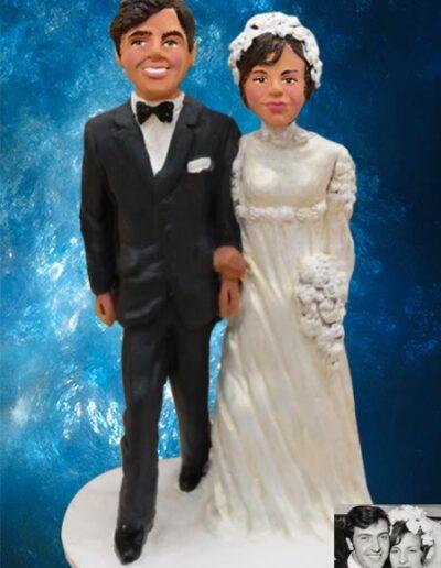 Cake topper sposi anni 60