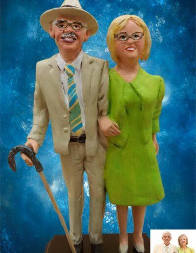 Statuina coppia anziani